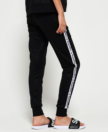 Superdry Fashion Fitness Tricot Joggers Black