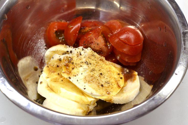 Mozzarellás paradicsomos (caprese) csirkemell recept