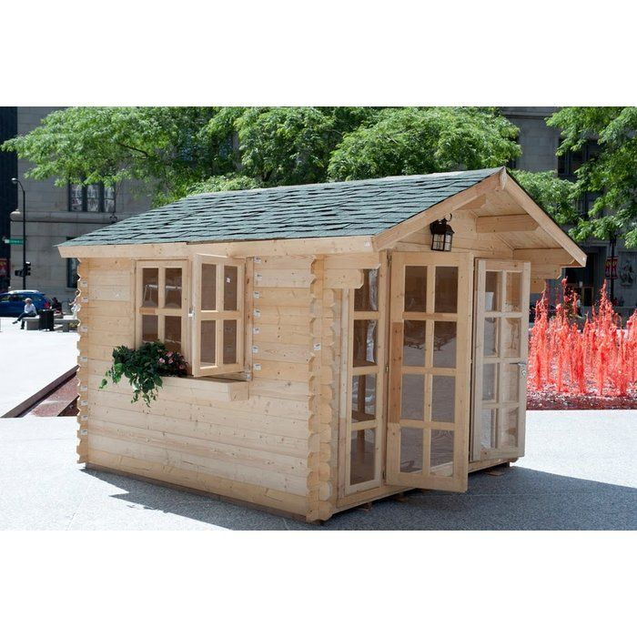 Brightoln 10 Ft W X 10 Ft D Solid Wood Storage Shed Garden Sheds For Sale Building A Shed Garden Shed Kits