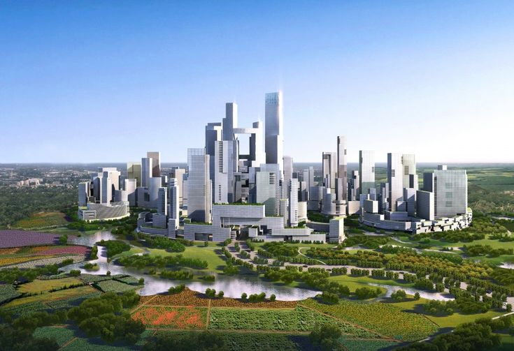 proposed China eco city   Tall buildings will provide room for 80,000 residents.