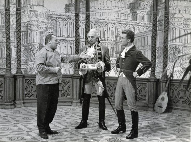 Fotogalerie: Karel Zeman při natáčení filmu Baron Prášil