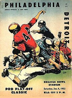 Football program, Detroit v. Philadelphia