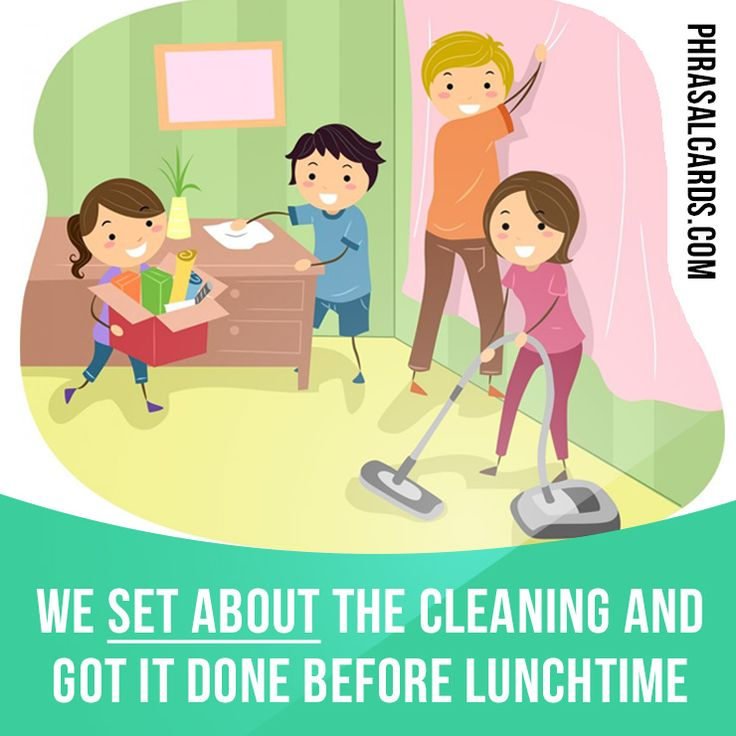"""Set about"" means ""to start doing something"". Example: We set about the cleaning and got it done before lunchtime. #phrasalverb #phrasalverbs #phrasal #verbs #phrase #phrases #expression #expressions #english #englishlanguage #learnenglish #studyenglish #language #vocabulary #dictionary #grammar #efl #esl #tesl #tefl #toefl #ielts #toeic #englishlearning"