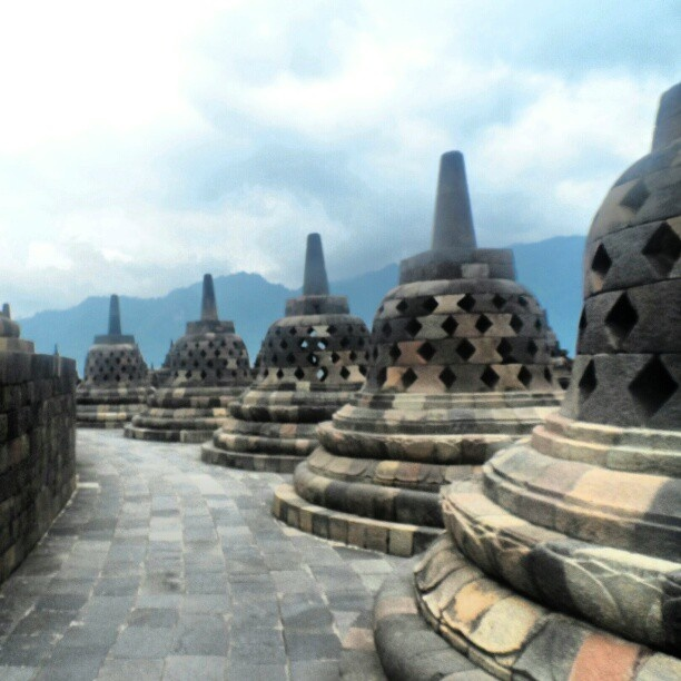 #ShareIG #Borobudur #Temple the #greatest #budha temple in #indonesia #magelang #java #Relief #stone #heritage #level 7 #sky #instagram #instagroove #instanesia