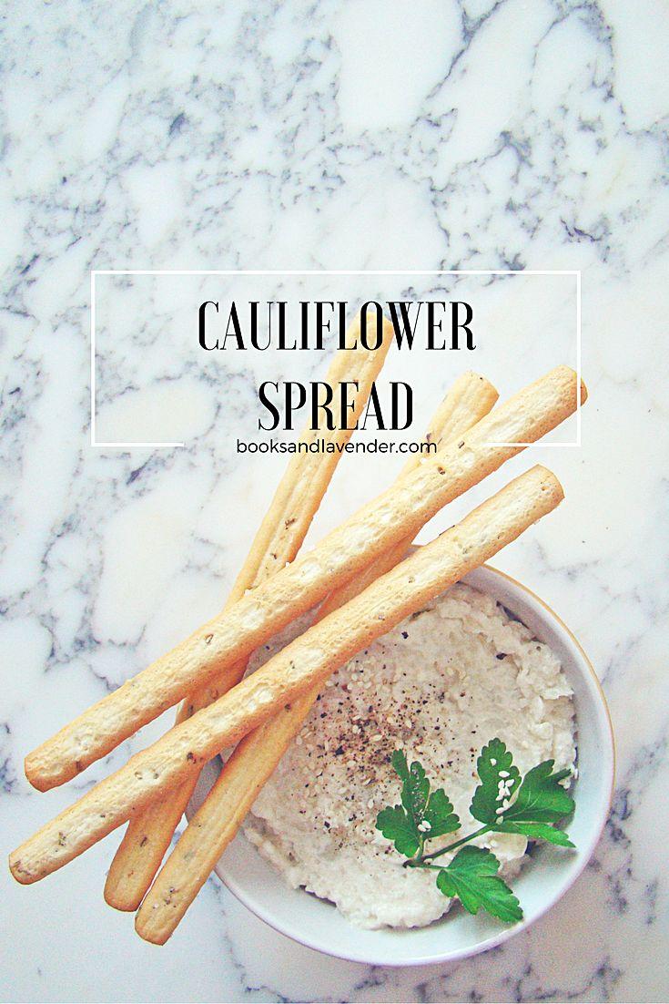 Cauliflower Spread - Books and Lavender