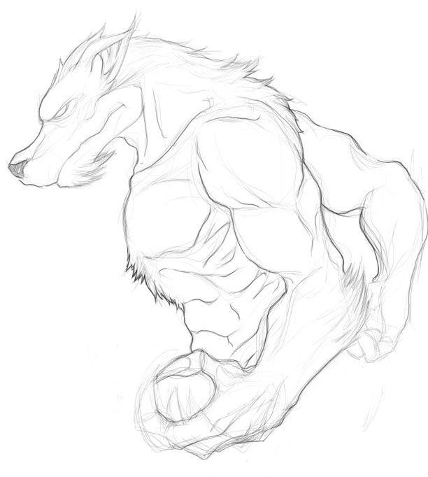 Dibujos-a-lapiz-de-hombre-lobos-7.jpg 612×682 píxeles | Animales ...