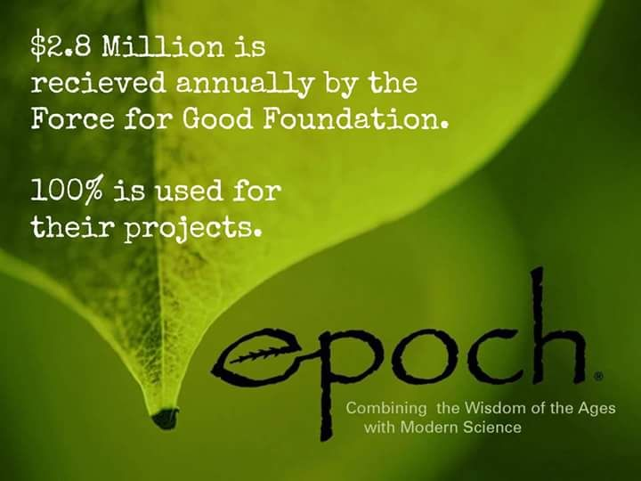 """I am focusing on helping  to increase this amount by """"purchasing with a purpose""""  #LiveEpoch"""