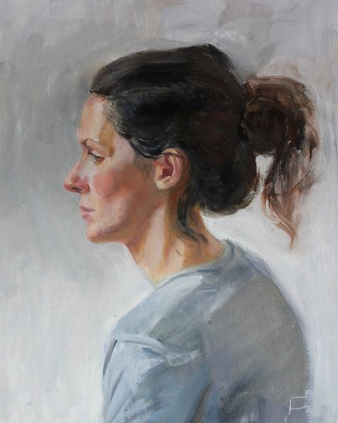 A beautiful portrait (oil painting) by Dominic Hurr