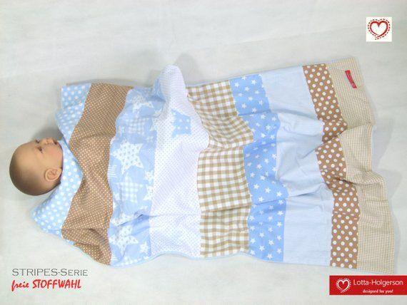 Stripes Patchwork Babydecke Tagesdecke Kuscheldecke Mit