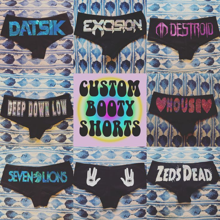 Custom holographic rave booty shorts  Edm Rave clothing Festival clothing Rezz Zeds dead Bassnectar Marshmello EDCLV  Excision Lost lands Headbanger  Edm girls