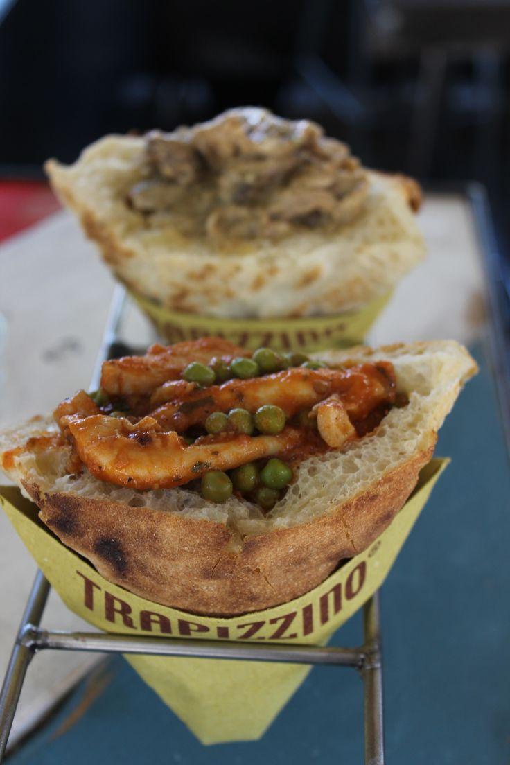 Trapizzino...delectable stuffed pizza! Ponte Milvio, Rome