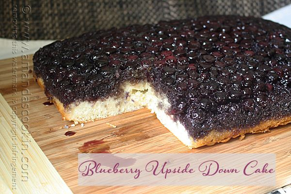Easy Blueberry Upside Down Cake