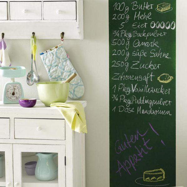 Küchendeko zum Selbermachen - An die Wand gestrichene Notiztafel