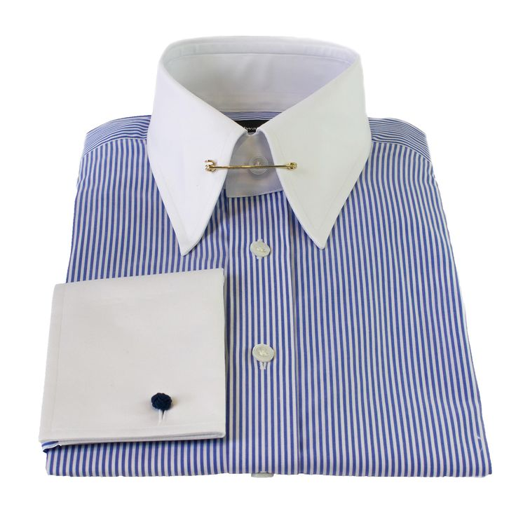 Edward Sextons sophisticated and classic Bengal stripe slim-fit pin collar shirt is easily matched with any array of autumnal tailoring