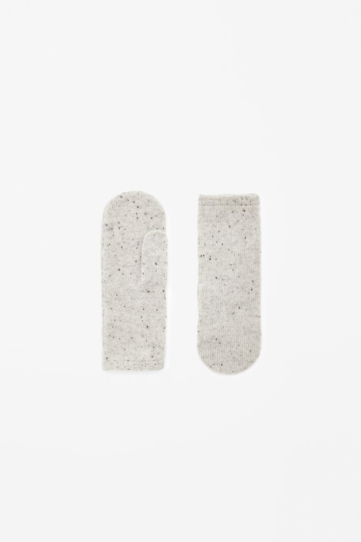 COS | Speckled cashmere mittens