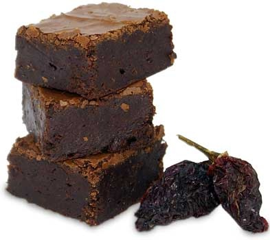 "The ""Heat"" brownie is uniquely made with smoky ancho and chipotle ..."