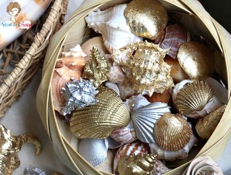 How to Gild #Seashells and Turn them into Metallic Beauties.