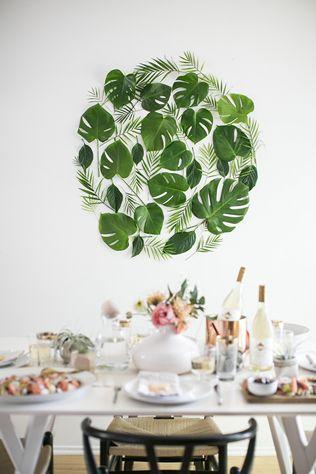 Тренды 2016 года: зеленые листья, пальмы и тропики, декор стола молодоженов - The-wedding.ru