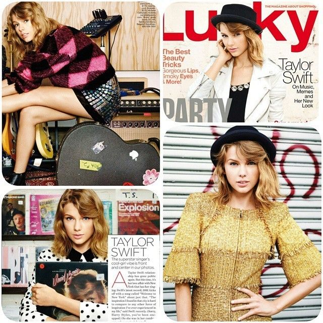#TaylorSwift for #LuckyMagazine#redlipclassic #BlankSpace #black #accessories #jeansskirt #fashion #style #celebrity #chanel #mango #forever21 #beautiful #pretty#stylish #HarryStyles #kendalljenner #ootd #outfit #heels #shoes #nofilter #girl #makeup... - Celebrity Fashion