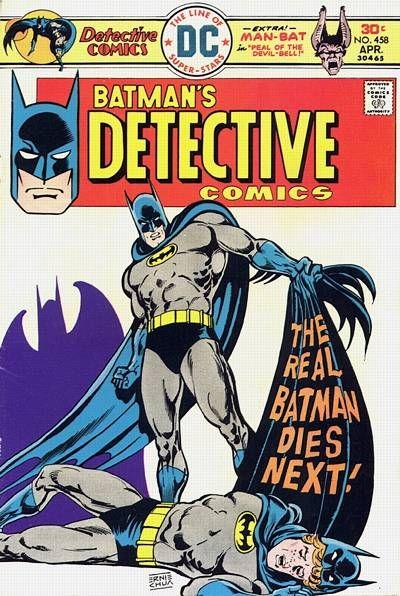 """""""The real Batman dies next!"""" Detective Comics #458. #Batman #DetectiveComics"""
