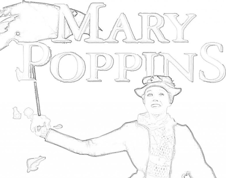 mary poppins coloring pages book - photo#24