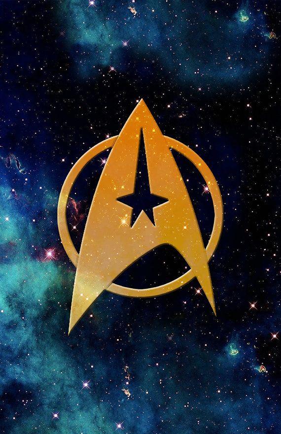 Star Trek Poster  - 11 x 17 Glossy Cardstock - Starfleet Insignia - Galaxy Space Design