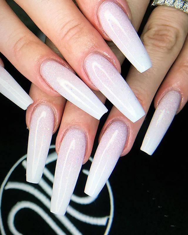 260 best Pink and White Nails images on Pinterest | White nails ...