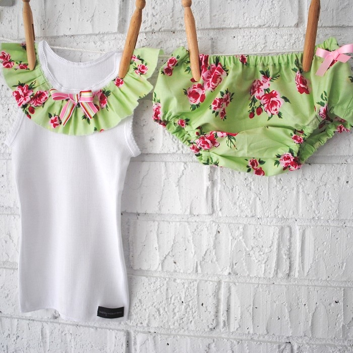 37 best singlets images on pinterest baby sewing onesies and lace mint green vintage floral set bloomers singlet girl baby rose negle Images