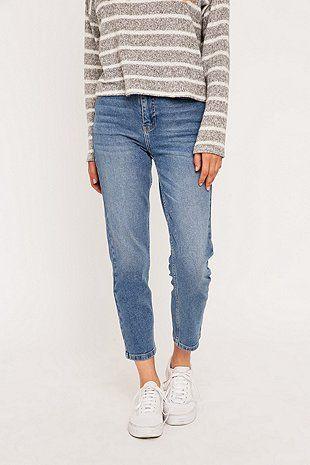 BDG Hellblaue Girlfriend-Jeans
