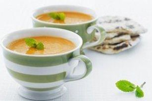 This exotic soup features ginger, garlic and warm spices - perfect flavours for carrots and lentils.  Delicious as is, a creamy finish takes  it to a whole other level.