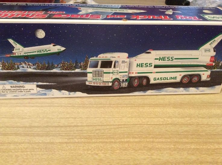 1999 New Hess Toy Truck & Space Shuttle With Satellite #Hess