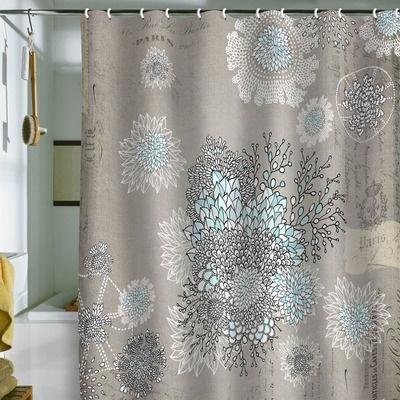 DENY Designs Iveta Abolina French Blue Shower Curtain   AllModern