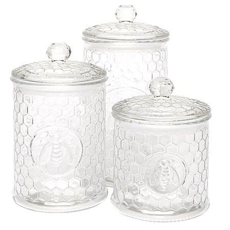 Circleware Honeybee Canister Set 3 Piece - Non-Plastic Food Storage - Kitchen Storage - Kitchen & Dining - The Warehouse