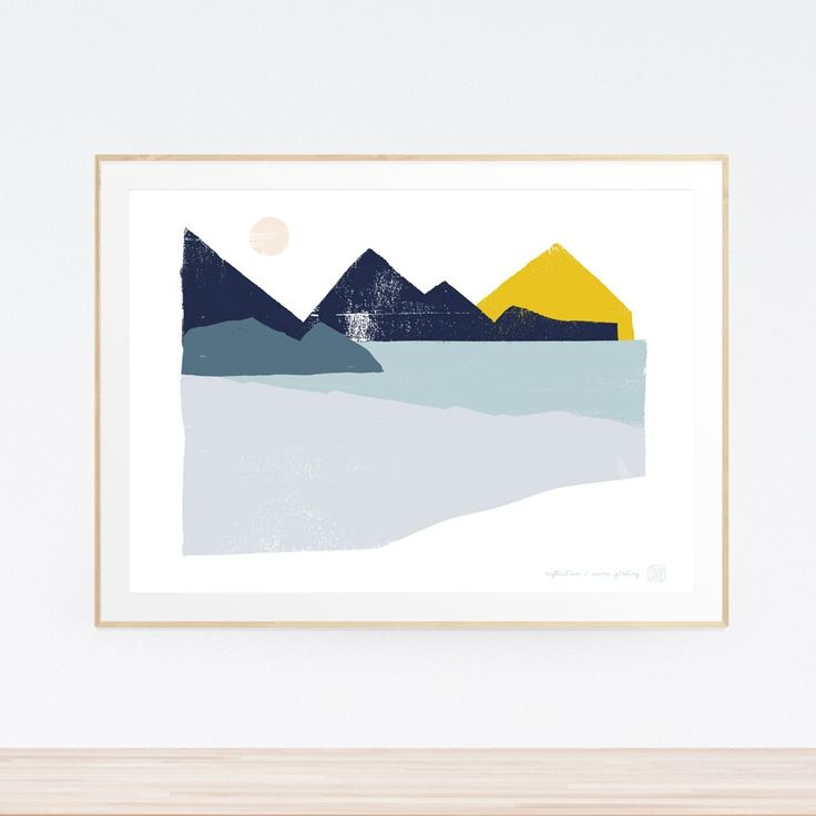 Reflection Landscape Art Print (Framed)