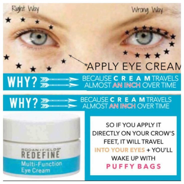 People often apply eye cream in the wrong place, resulting in actually GREATER puffiness! Don't make that mistake again! Use R+F Multi-Function Eye Cream and be Wowed!