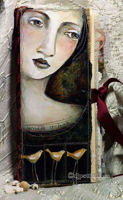 art journal collage - Original pinner sez: So love the work of DJ Pettitt
