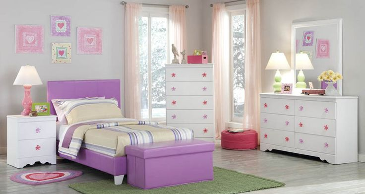 Kith Furniture Kids 269 Savannah Pink Purple Bedroom Set