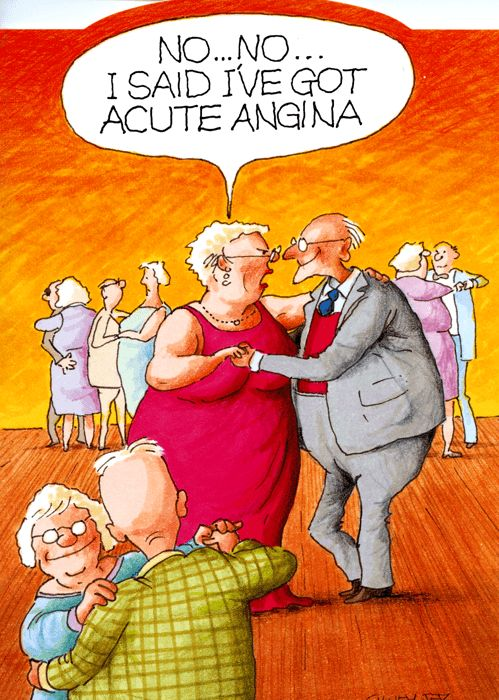 Acute Angina  Cartoon Jokes, Funny Old People, Funny Cartoons-3879
