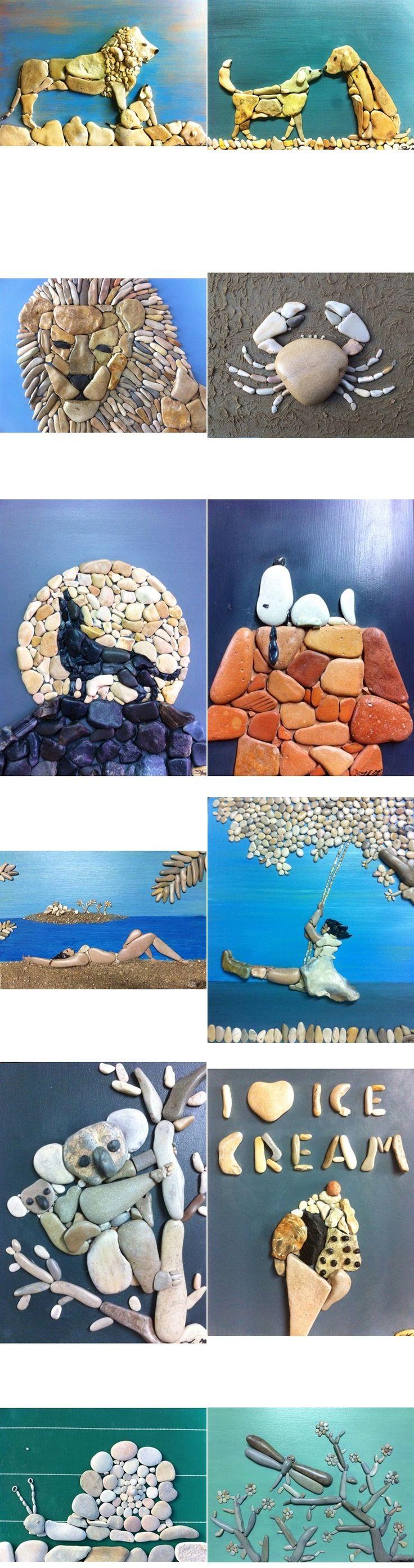 Fab ideas on Stone Art Design | www.FabArtDIY.com LIKE Us on Facebook ==> https://www.facebook.com/FabArtDIY