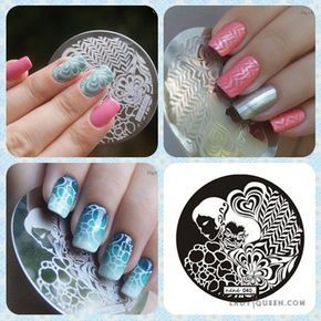 Image result for outer space nail stamping art