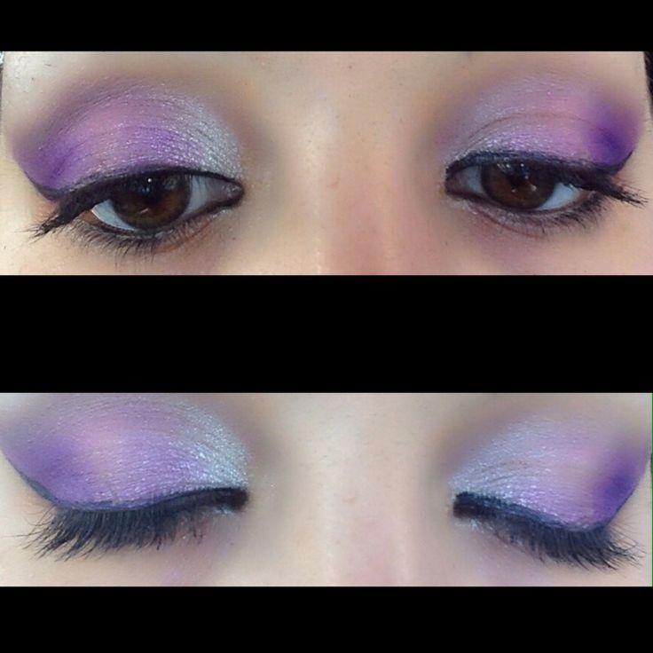 #makeup #pink #viola #bianco