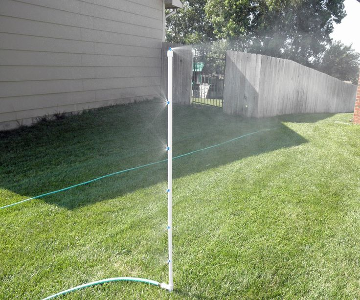 8 best diy outdoor misting system images on pinterest for Pvc pipe garden projects