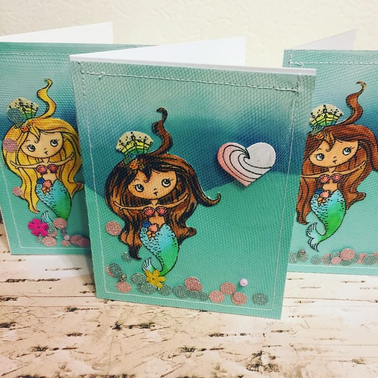 Tulle Shaker Mermaid Cards — Gab with Gaby