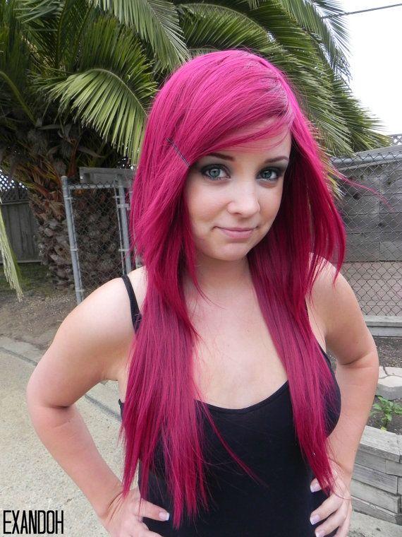 HALLOWEEN SALE / Romantic / Dark Auburn Red / Long Straight Layered Wig