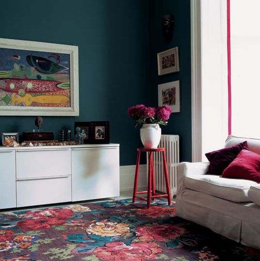 Look at this teal with lipstick and plum WOW! The Decorista-Domestic Bliss: FAVORITE SHADES OF TEAL