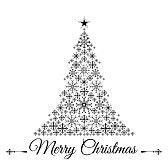 albero stilizzato : Stilizzato albero di Natale illustrazione vettoriale
