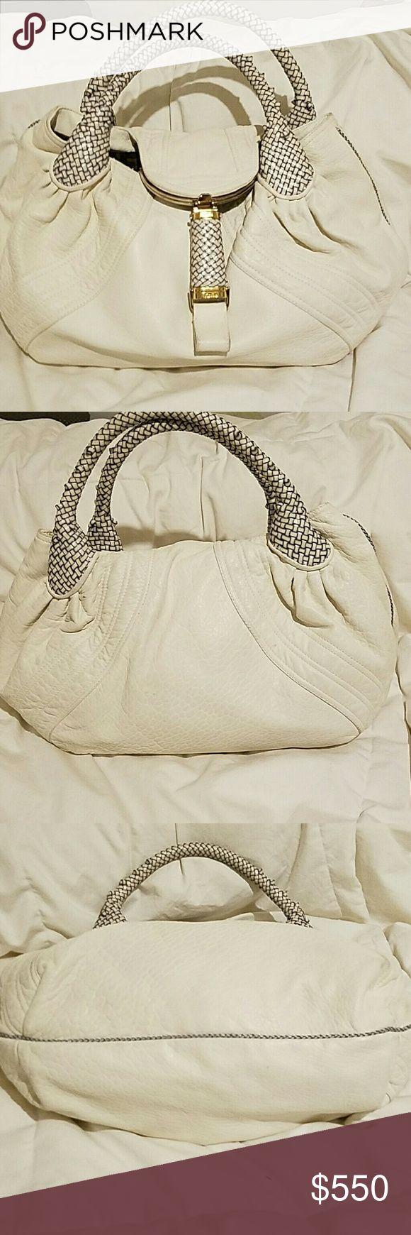Fendi Spy Bag white Gently used. Fendi Bags Satchels