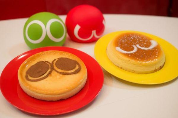 「緑ぷよ」と「赤ぷよ」を再現したケーキ -- スイーツパラダイスで