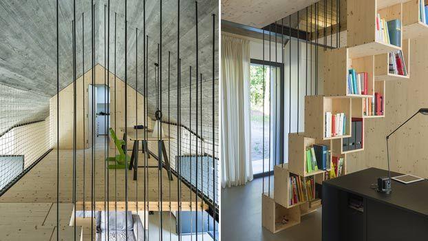 Scala per interni in legno di design in Slovenia
