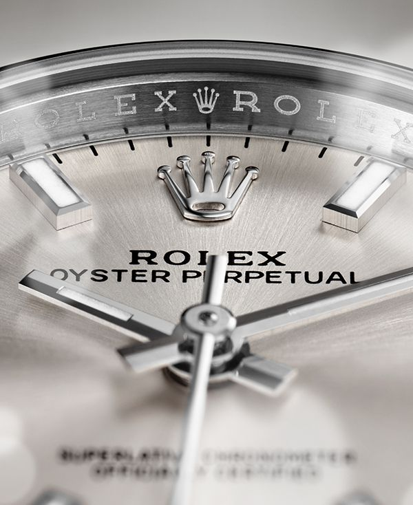 On every Rolex watch - even on steel models - the hands and hour markers are always made of 18 ct gold.